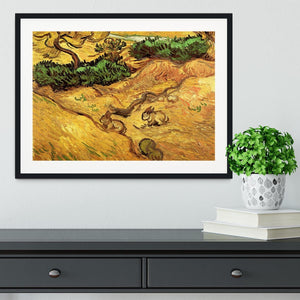Field with Two Rabbits by Van Gogh Framed Print - Canvas Art Rocks - 1