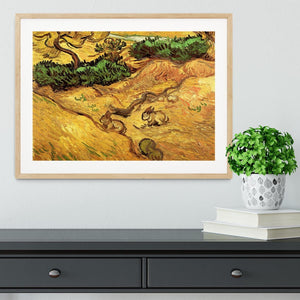 Field with Two Rabbits by Van Gogh Framed Print - Canvas Art Rocks - 3