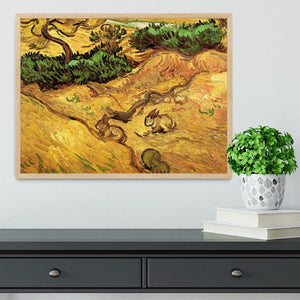 Field with Two Rabbits by Van Gogh Framed Print - Canvas Art Rocks - 4
