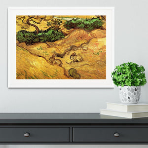 Field with Two Rabbits by Van Gogh Framed Print - Canvas Art Rocks - 5