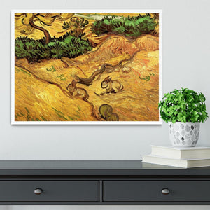 Field with Two Rabbits by Van Gogh Framed Print - Canvas Art Rocks -6