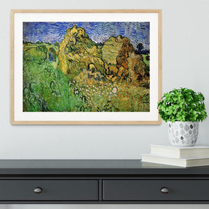 Field with Wheat Stacks by Van Gogh Framed Print - Canvas Art Rocks - 3