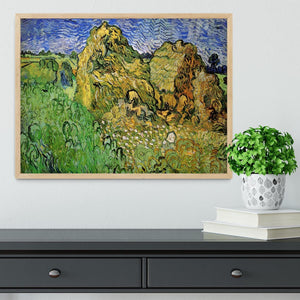 Field with Wheat Stacks by Van Gogh Framed Print - Canvas Art Rocks - 4