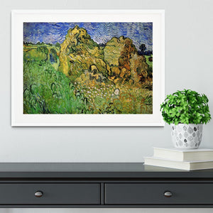 Field with Wheat Stacks by Van Gogh Framed Print - Canvas Art Rocks - 5