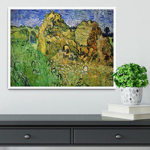 Field with Wheat Stacks by Van Gogh Framed Print - Canvas Art Rocks -6