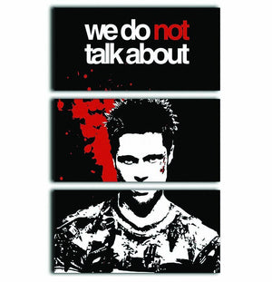 Fight Club We Do Not 3 Split Panel Canvas Print - Canvas Art Rocks - 1