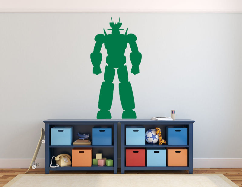 Fighter Robot - Version 2 Wall Sticker - Canvas Art Rocks - 1