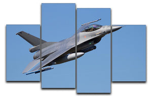 Fighter jet flyby 4 Split Panel Canvas  - Canvas Art Rocks - 1
