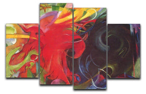 Fighting forms by Franz Marc 4 Split Panel Canvas  - Canvas Art Rocks - 1