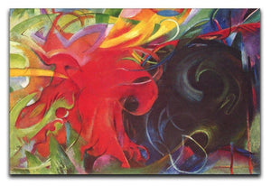 Fighting forms by Franz Marc Canvas Print or Poster  - Canvas Art Rocks - 1