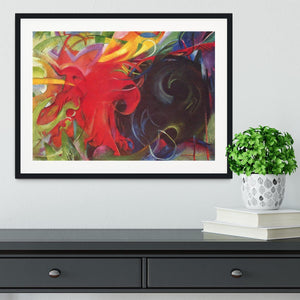 Fighting forms by Franz Marc Framed Print - Canvas Art Rocks - 1