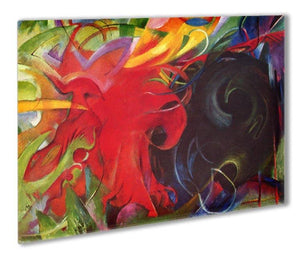 Fighting forms by Franz Marc Outdoor Metal Print - Canvas Art Rocks - 1