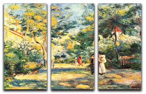 Figures in the garden by Renoir 3 Split Panel Canvas Print - Canvas Art Rocks - 1