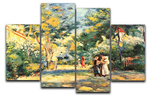 Figures in the garden by Renoir 4 Split Panel Canvas  - Canvas Art Rocks - 1