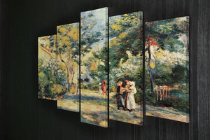 Figures in the garden by Renoir 5 Split Panel Canvas - Canvas Art Rocks - 2