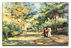 Figures in the garden by Renoir Canvas Print or Poster  - Canvas Art Rocks - 1