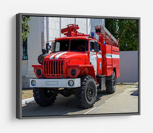 Fire Truck In The City HD Metal Print