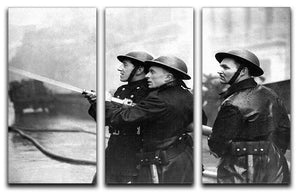 Firefighters morning after air raids London 3 Split Panel Canvas Print - Canvas Art Rocks - 1