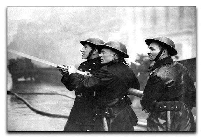 Firefighters morning after air raids London Canvas Print or Poster