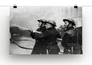 Firefighters morning after air raids London Canvas Print or Poster - Canvas Art Rocks - 2