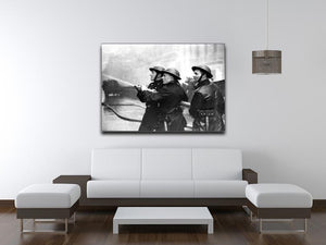 Firefighters morning after air raids London Canvas Print or Poster - Canvas Art Rocks - 4