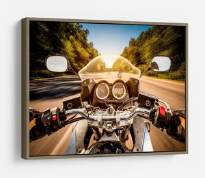 First Person Motorbike Ride HD Metal Print