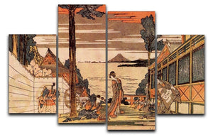 First act by Hokusai 4 Split Panel Canvas  - Canvas Art Rocks - 1