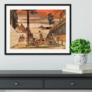 First act by Hokusai Framed Print - Canvas Art Rocks - 1