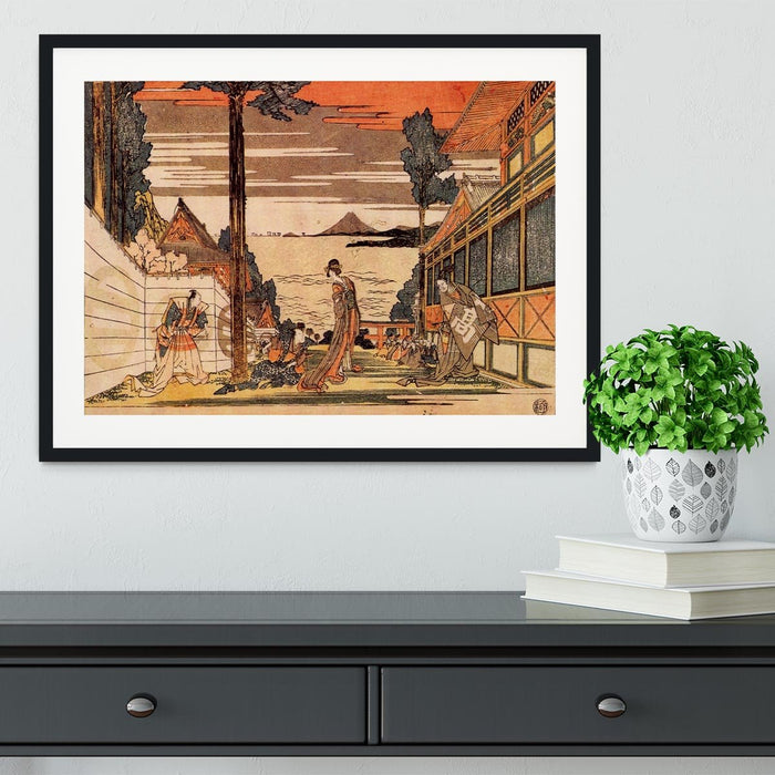 First act by Hokusai Framed Print