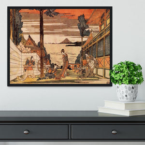 First act by Hokusai Framed Print - Canvas Art Rocks - 2