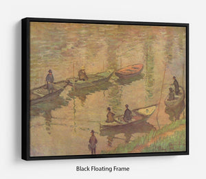 Fishermen on the Seine at Poissy by Claude_Monet Floating Frame Canvas