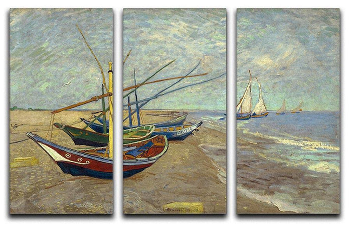 Fishing boats at Sainte Marie 3 Split Panel Canvas Print