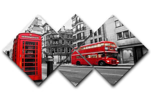 Fleet street London 4 Square Multi Panel Canvas  - Canvas Art Rocks - 1