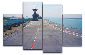Flight deck of an aircraft carrier 4 Split Panel Canvas  - Canvas Art Rocks - 1