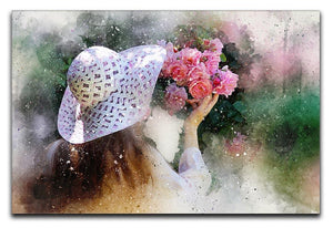 Flower Girl Painting Canvas Print or Poster  - Canvas Art Rocks - 1