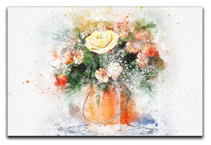 Flower Painting Canvas Print or Poster  - Canvas Art Rocks - 1