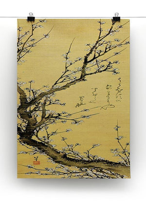 Flowering plum by Hokusai Canvas Print or Poster - Canvas Art Rocks - 2