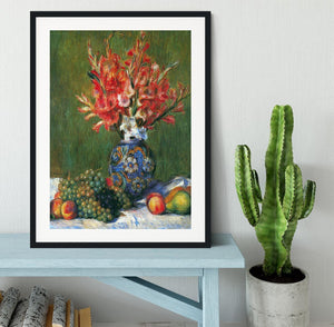 Flowers and Fruit by Renoir Framed Print - Canvas Art Rocks - 1