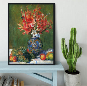 Flowers and Fruit by Renoir Framed Print - Canvas Art Rocks - 2