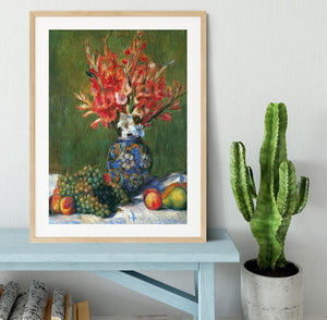 Flowers and Fruit by Renoir Framed Print - Canvas Art Rocks - 3