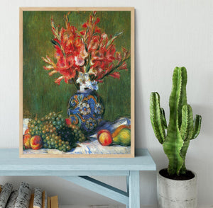 Flowers and Fruit by Renoir Framed Print - Canvas Art Rocks - 4