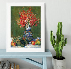 Flowers and Fruit by Renoir Framed Print - Canvas Art Rocks - 5