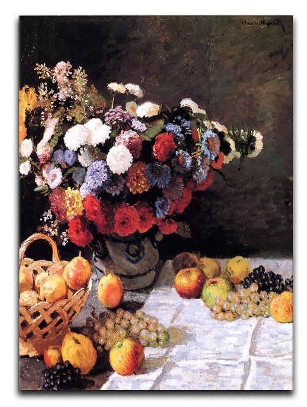 Flowers and Fruits by Monet Canvas Print or Poster