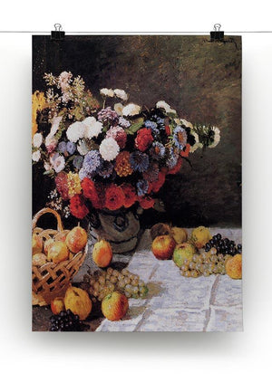 Flowers and Fruits by Monet Canvas Print & Poster - Canvas Art Rocks - 2