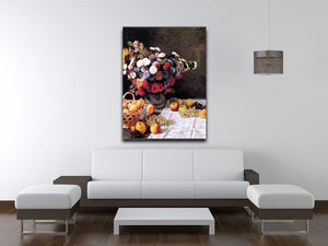 Flowers and Fruits by Monet Canvas Print & Poster - Canvas Art Rocks - 4