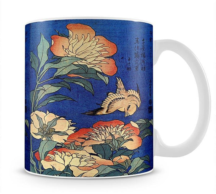 Flowers by Hokusai Mug