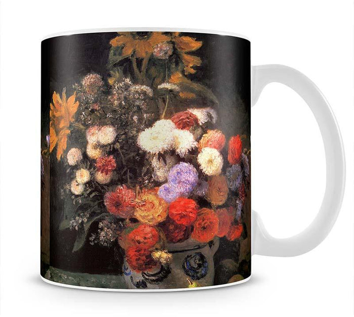 Flowers in a vase by Renoir Mug