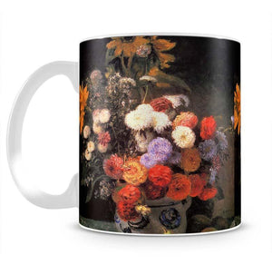 Flowers in a vase by Renoir Mug - Canvas Art Rocks - 2