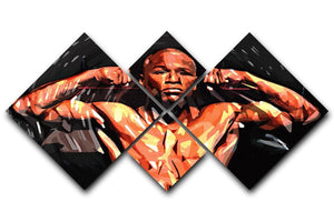 Floyd Mayweather 4 Square Multi Panel Canvas  - Canvas Art Rocks - 1