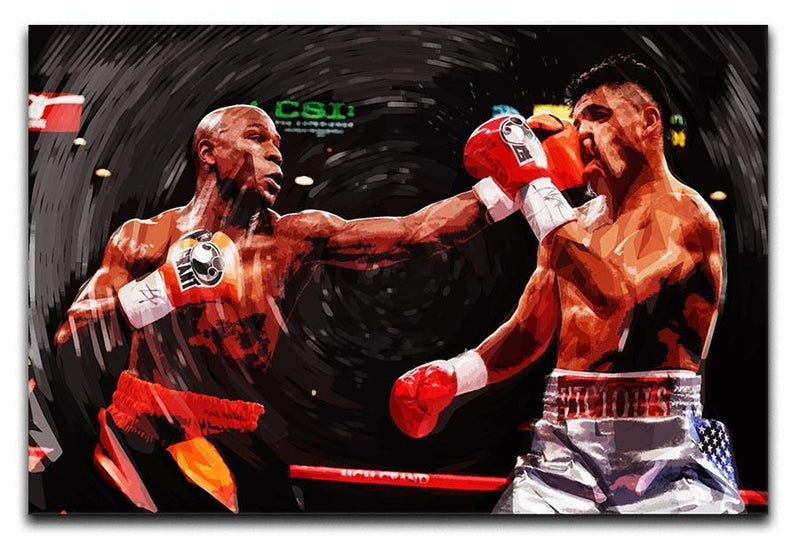 Floyd Mayweather Knockout Canvas Print or Poster  - Canvas Art Rocks - 1